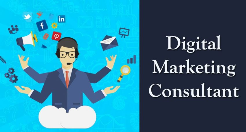 What are the functions of a digital marketing consultant?