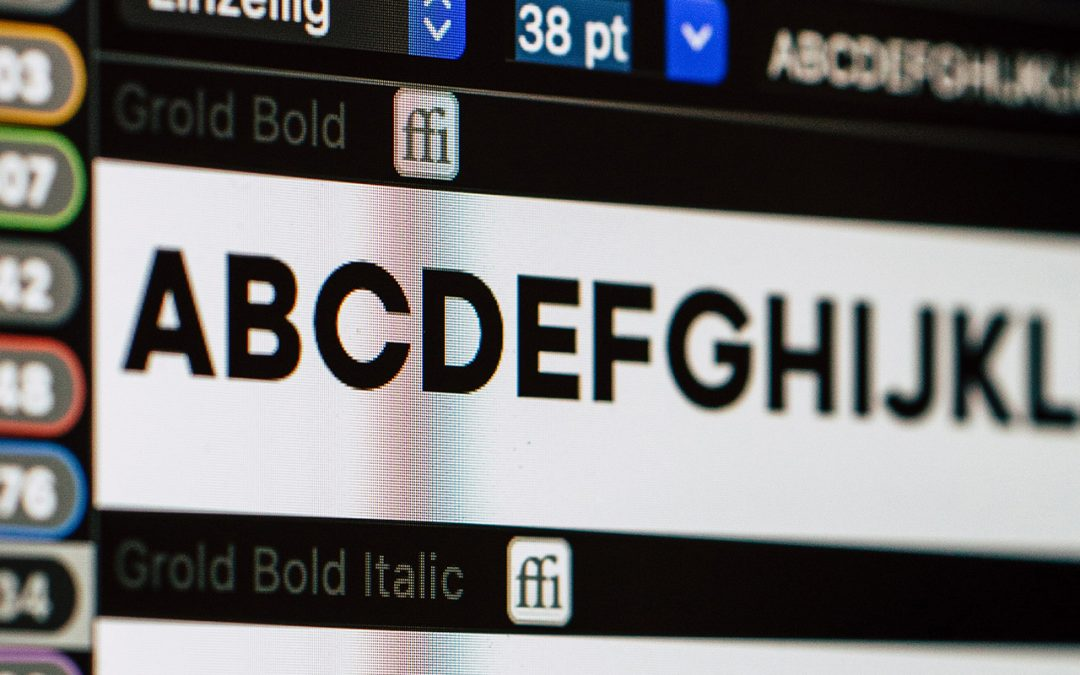 The 8 most used fonts by web designers