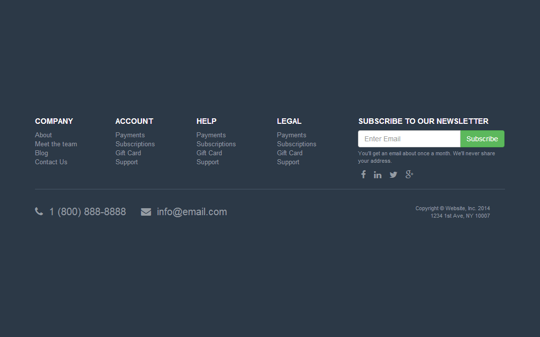 Tips for designing a creative newsletter footer