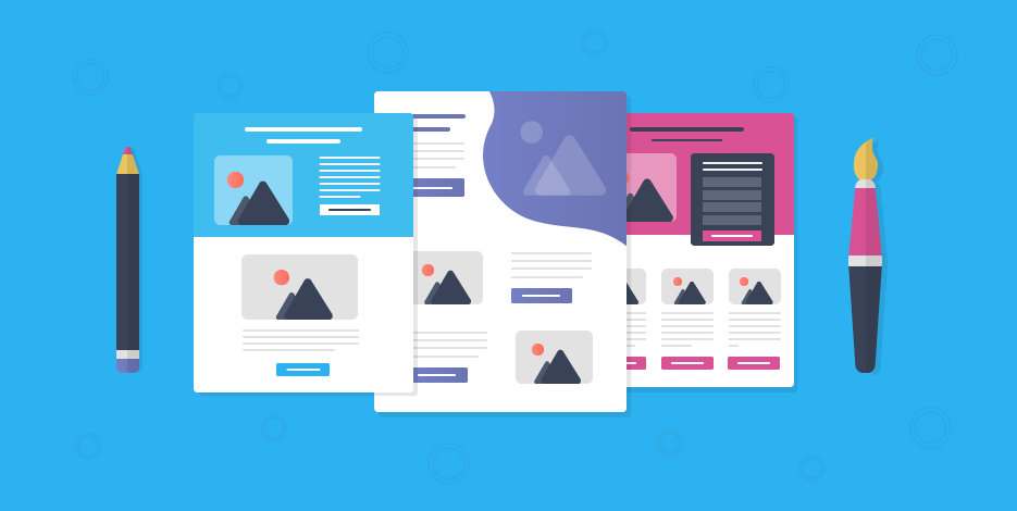 How do you create landing pages from posts?