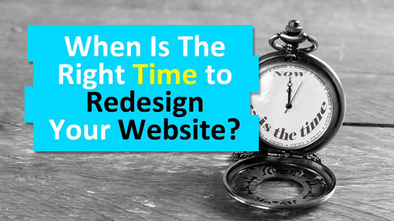 Redesign of your website: what if it was the right time?